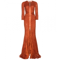 Givenchy Floor Length Lace Dress Rust