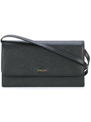 Bally Shoulder Strap Wallet Black