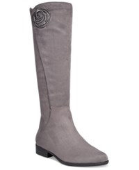 Impo Andrea Dress Boots Women's Shoes Steel Grey Suede