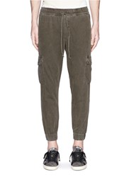 Nsf 'Johnny' Cropped Cargo Jogging Pants Grey