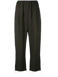 Damir Doma Paz Straight Trousers Women Linen Flax Viscose Xs Brown