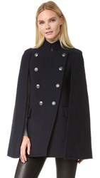 Balmain Cape Coat Navy