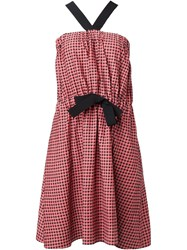 Vanessa Bruno Gingham Dress Red