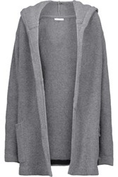 Chinti And Parker Merino Wool Cashmere Blend Hooded Cardigan Gray