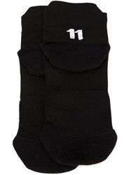 11 By Boris Bidjan Saberi Intarsia Logo Socks Black