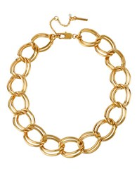 Kenneth Cole Gold Plated Large Link Necklace