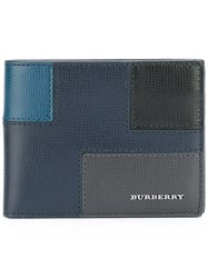 Burberry Patchwork Billfold Wallet Blue
