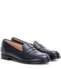 Tod's Galassia Leather Loafers Blue