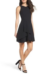 Adelyn Rae Women's Athena Fit And Flare Dress Black