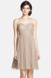 Women's Jenny Yoo 'Wren' Convertible Tulle Fit And Flare Dress Mink Grey