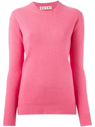 Marni Crew Neck Sweater Pink And Purple