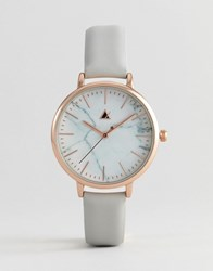Asos Premium Marble Leather Watch Brown