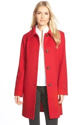 Petite Women's Fleurette Wool Spread Collar Coat