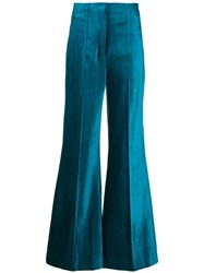 Dorothee Schumacher Flared Trousers Blue