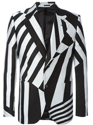 Alexander Mcqueen Striped Blazer Black