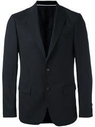 Z Zegna Classic Blazer Men Rayon Wool 46 Black