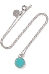 Marc By Marc Jacobs Silver Tone Enamel Necklace Metallic