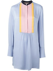 Roksanda Ilincic Pleated Front Blouse Pink And Purple