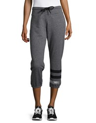 Calvin Klein Ankle Length Heathered Sweatpants Black Heather