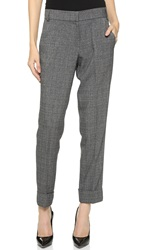 James Jeans Cuffed Trousers Dark Grey Plaid