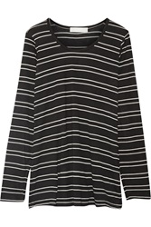 Kain Label Ramona Striped Modal Jersey Top Black