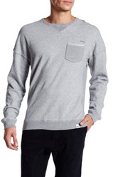 Ourcaste Laird Crewneck Pocket Sweater Gray