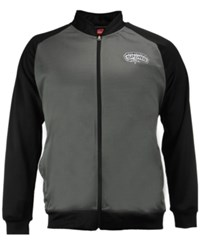 Majestic Men's San Antonio Spurs Wow Track Jacket Charcoal Black