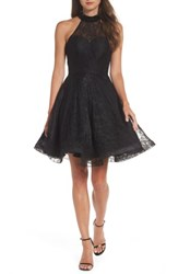 Mac Duggal Women's Beaded Lace Fit And Flare Dress Black