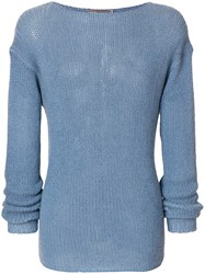 Ermanno Scervino Casual Knit Jumper Cashmere Blue