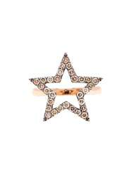 Rosa De La Cruz Diamond Star Ring Pink And Purple