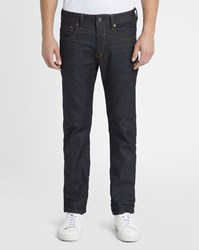 G Star Blue Raw 3301 Straight Wrinkled Stretch Jeans