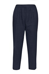 Great Plains Norfolk Linen Straight Leg Trousers Royal Blue