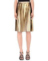 Soho De Luxe Skirts Knee Length Skirts Women Gold