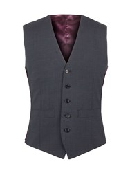 Alexandre Of England Gordon Micro Check Waistcoat Navy
