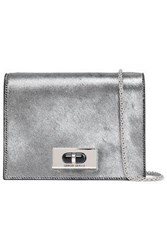 Giorgio Armani Woman Metallic Calf Hair Shoulder Bag Silver