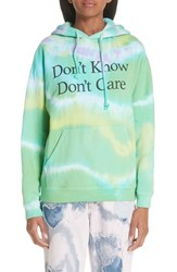 Ashley Williams Don't Know Don't Care Tie Dye Hoodie Tiedye