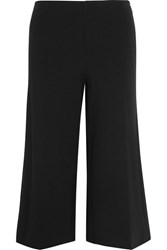 Michael Michael Kors Cropped Stretch Jersey Wide Leg Pants Black