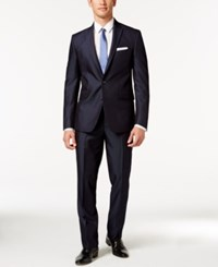 Kenneth Cole Reaction Navy Micro Stripe Slim Fit Suit