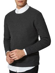 Selected Homme Mike Crew Neck Jumper Anthracite