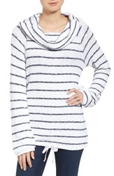 Caslonr Women's Caslon Convertible Off The Shoulder Pullover White Navy Stripe
