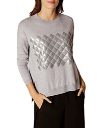 Karen Millen Sequin Sweater Gray