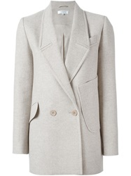 Carven Double Breasted Blazer Nude And Neutrals