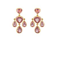 Munnu Pink Spinel Drop Earrings Pink