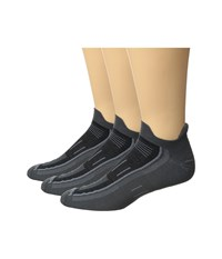Wrightsock Endurance Double Tab 3 Pack Ash Crew Cut Socks Shoes Gray