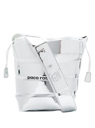 Paco Rabanne Strappy Bucket Bag Silver