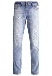 Denham Jeans Monroe Straight Leg Destroyed Denim