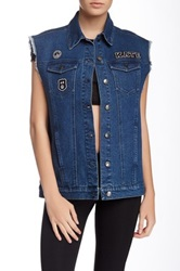 American Retro Tilda Denim Vest Blue