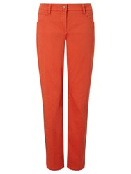 Gerry Weber Cropped Chino Trousers Orange