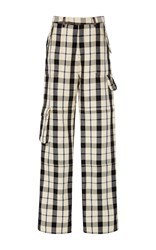 Rosie Assoulin Baggy Pants With Patch Pockets White Black