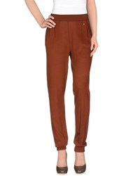 Pianurastudio Trousers Casual Trousers Women Brown